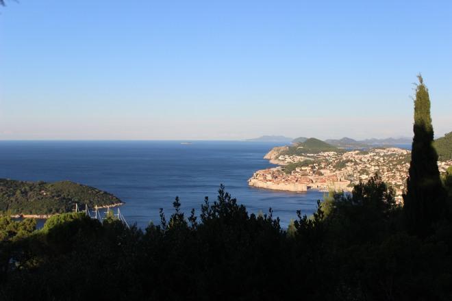 Looking back at Dubrovnik, Croatia