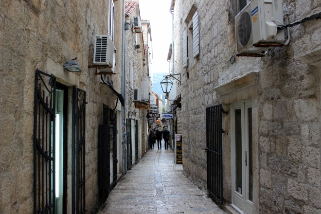 A street in Budva's Old City