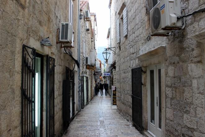 A street in Budva's Old City