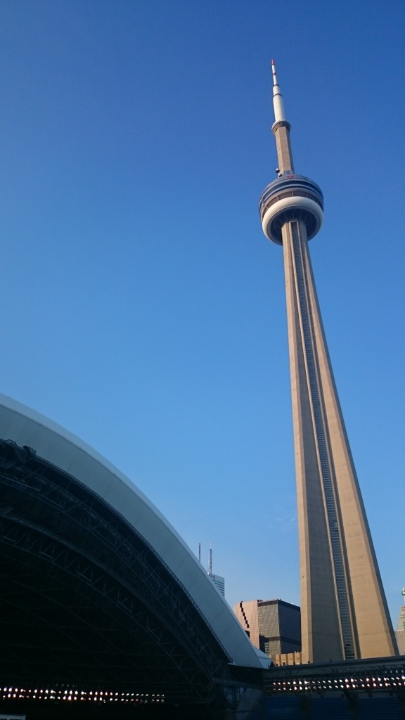 View of the CN Tower from the Rogers Centre
