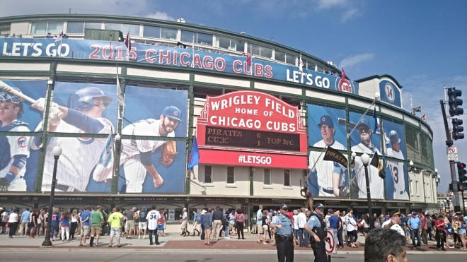 Game day at Wrigley Field