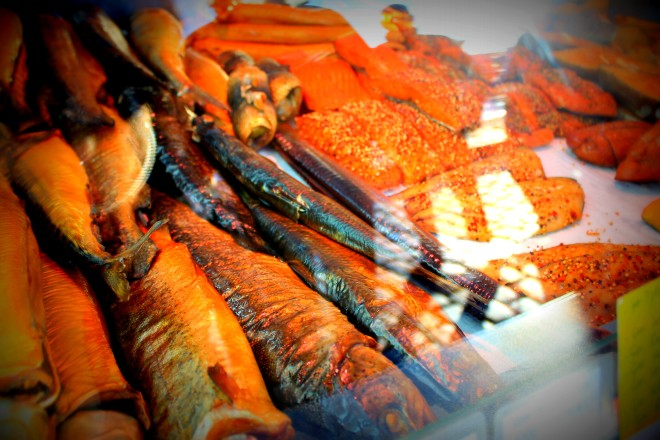 Some of the produce at Fischmarkt