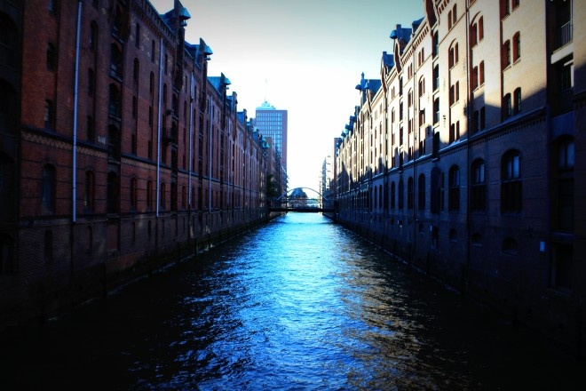 One of the loading canals in Speicherstadt